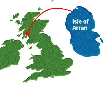 Map of the  Isle of Arran